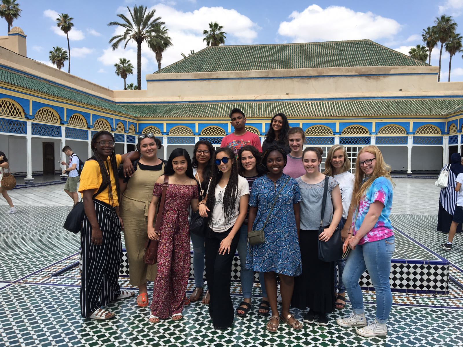 A group of DCIS students in Morocco