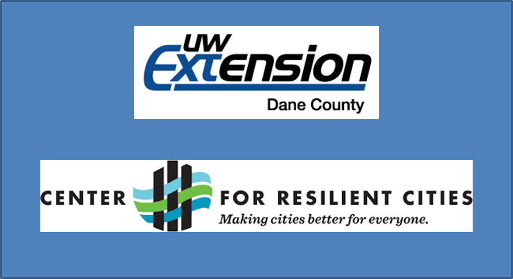 sponsors are UW-Extension and Center for Resilient Cities