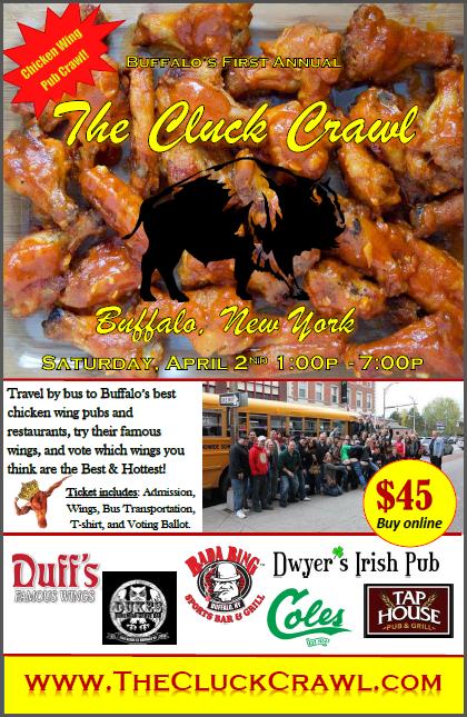 The cluck crawl buffalo 2016 tickets sat apr 2 2016 at 1 00 pm eventbrite - Buffalo grill ticket restaurant ...