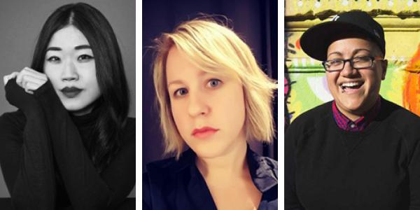 LtoR: Mary H.K. Choi, Elizabeth Keenan, Gabby Rivera