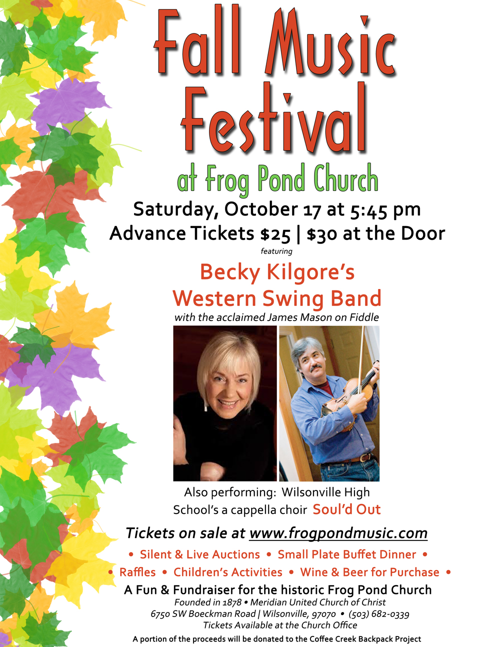 Fall Music Festival at Frog Pond Church