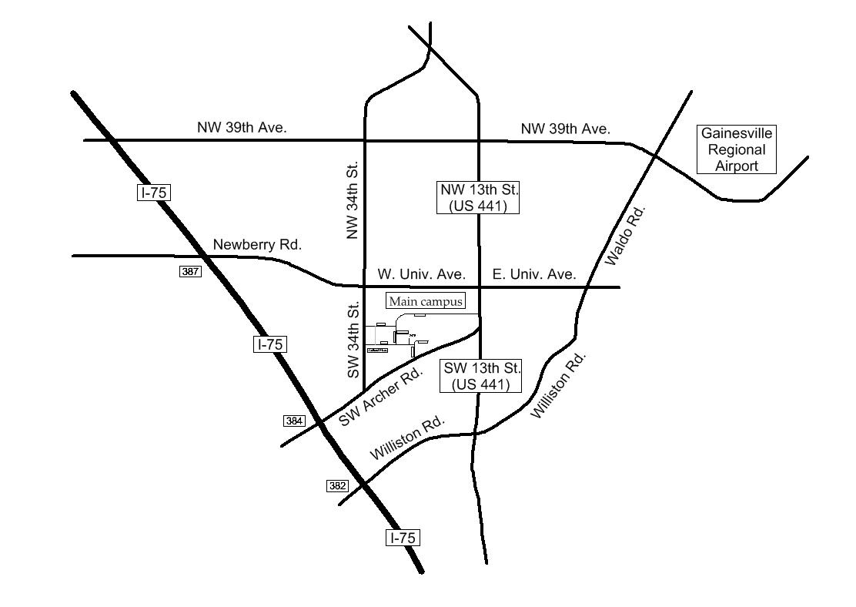 Alachua map