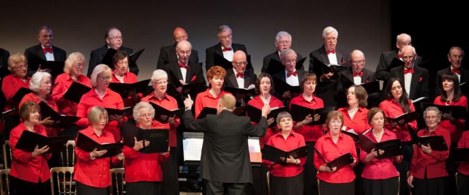 The Edinburgh Telephone Choir performing