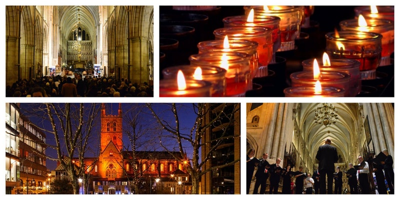 Southwark Cathedral and Christmas Candles images
