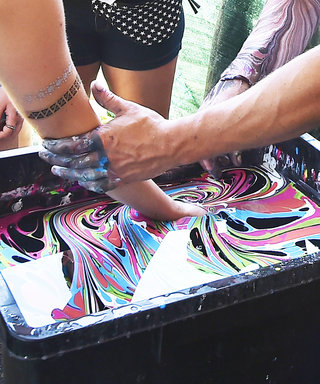 Body Marbling at Mistress Zeneca's Secret Lair