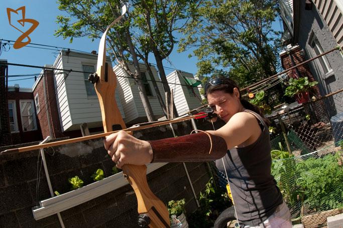 Archery in the wilds of Philadelphia during the zombie apocalypse