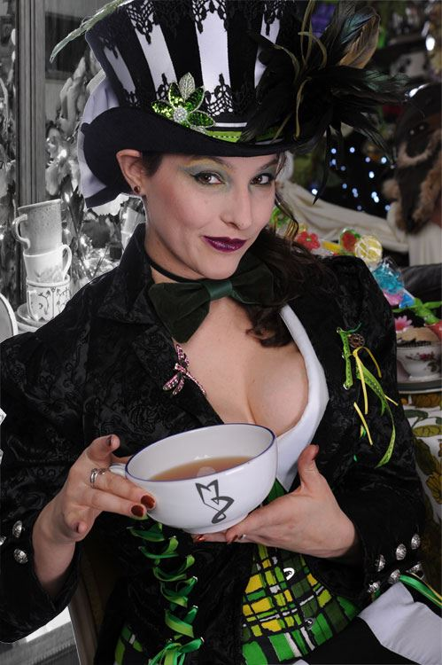 The Mad Hatter - Mistress Zeneca at the Mad High Tea Party