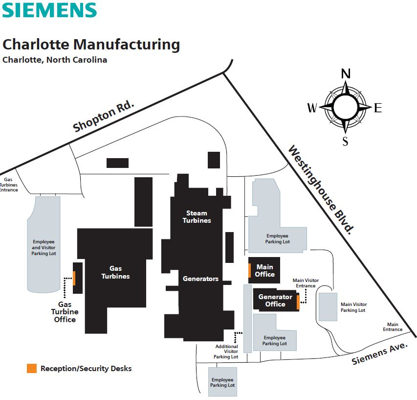 Siemens Campus Map