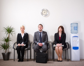 People waiting for interview