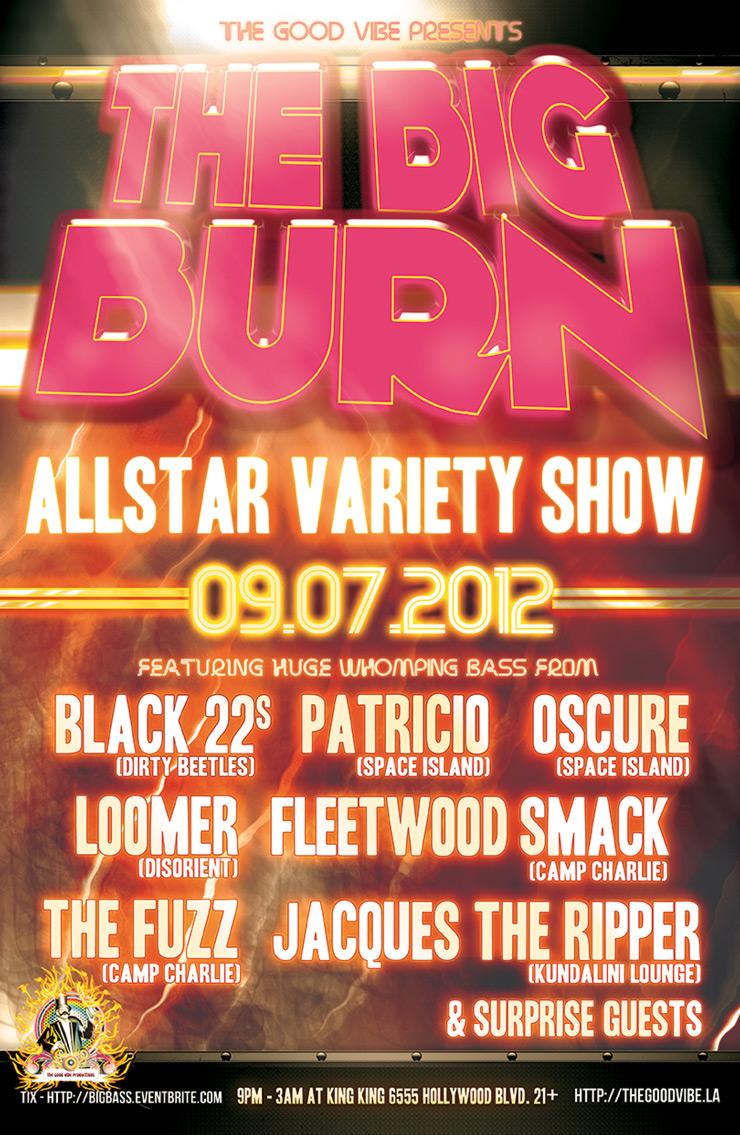 The Big Burn Allstar Variety Show at King King