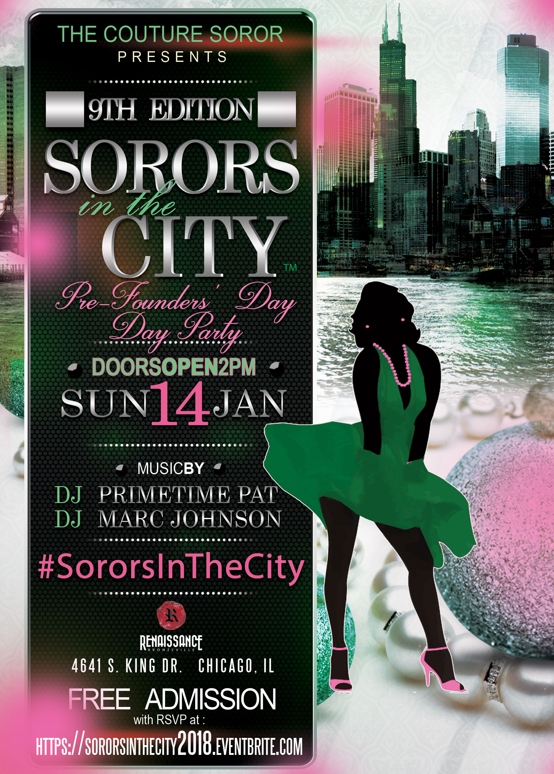 SORORS IN THE CITY 2018 FLYER