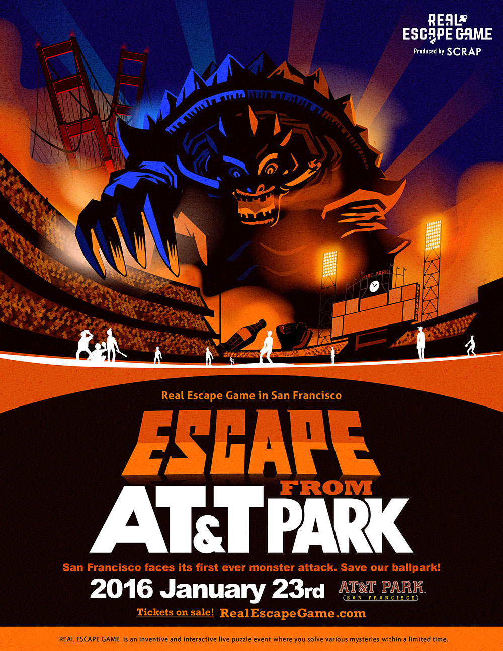 San Francisco faces its first ever monster attack. Save our ballpark!