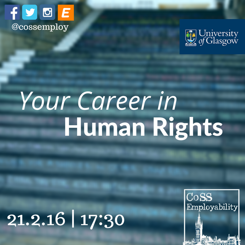 Your Career in Human Rights Event Logo