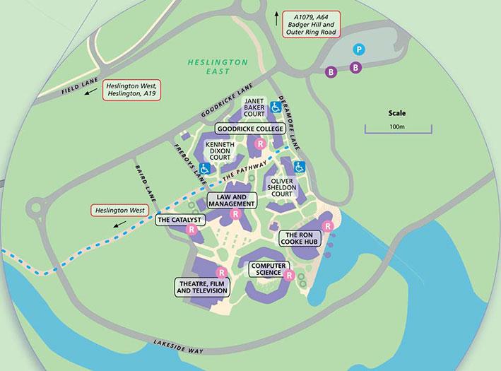 Map of Heslington East