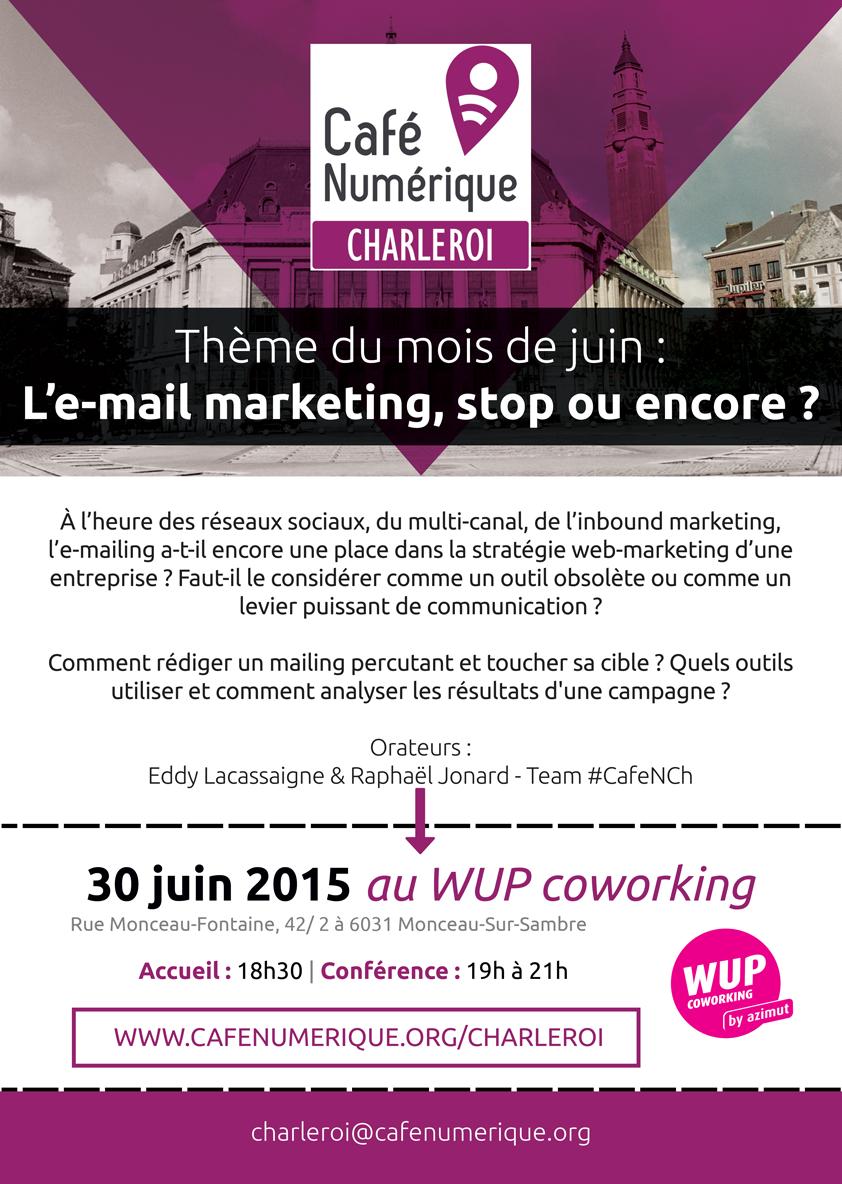 Ne manquez pas cette conférence organisée par le Café Numérique Charleroi