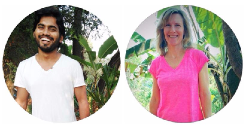 Yoga and meditation teachers Daddu and Jennifer Wirth