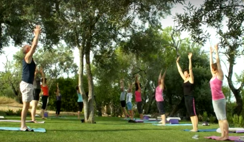Join us for energy restoring yoga outdoor on the beach, in the grass, by the pool