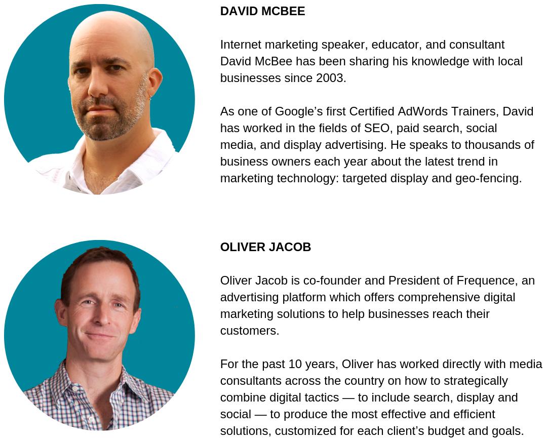 David McBee Oliver Jacob Speakers