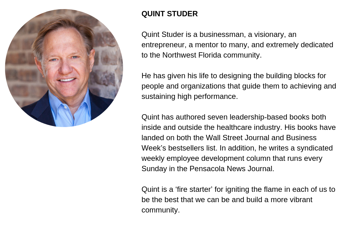 Quint Studer Headshot and Biography