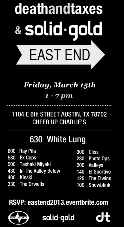 East End 2013 Flyer