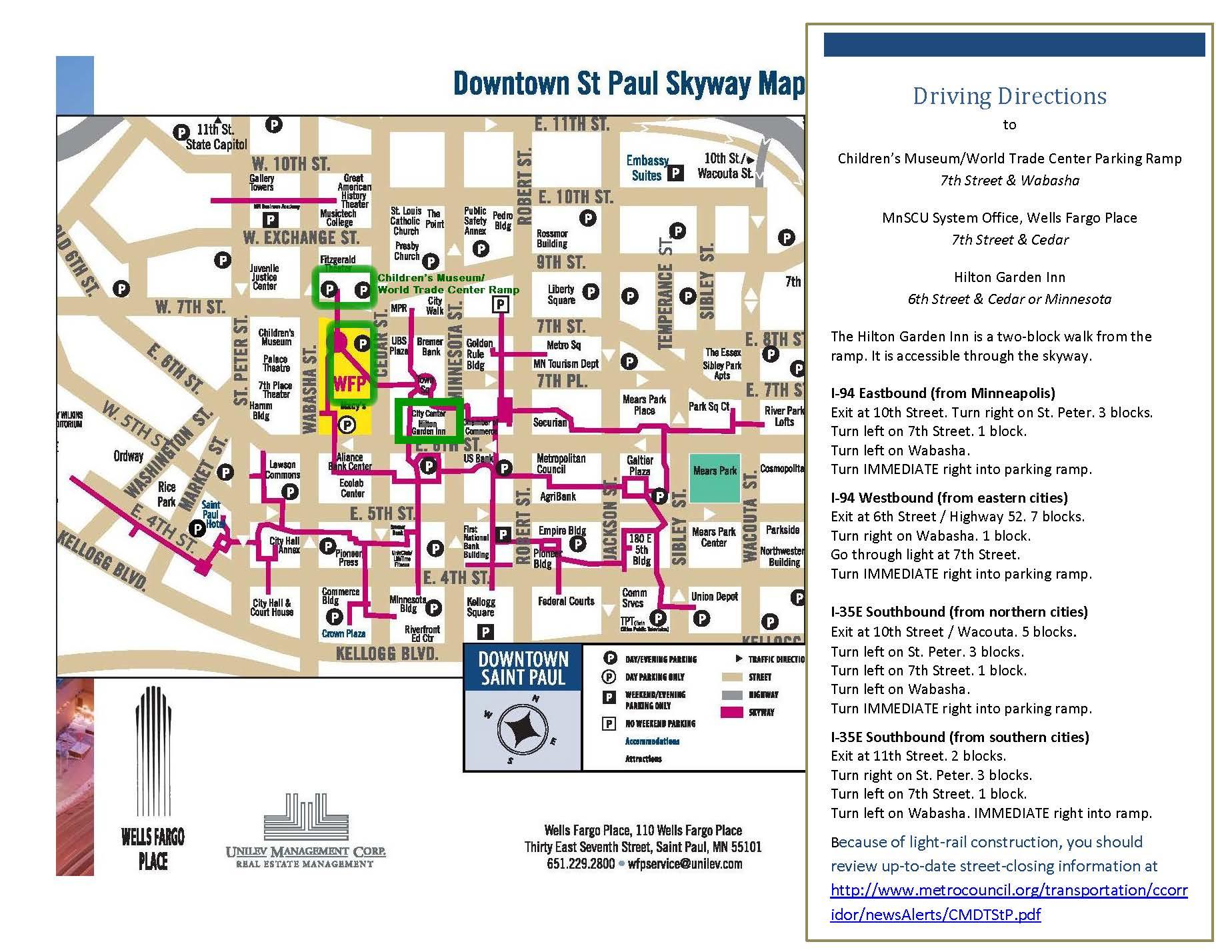 St Paul Skyway Map