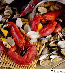 Lobster and clam bake photo