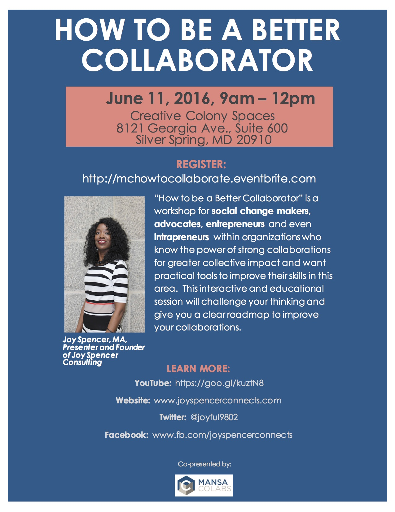 Flyer for How to be A Better Collaborator