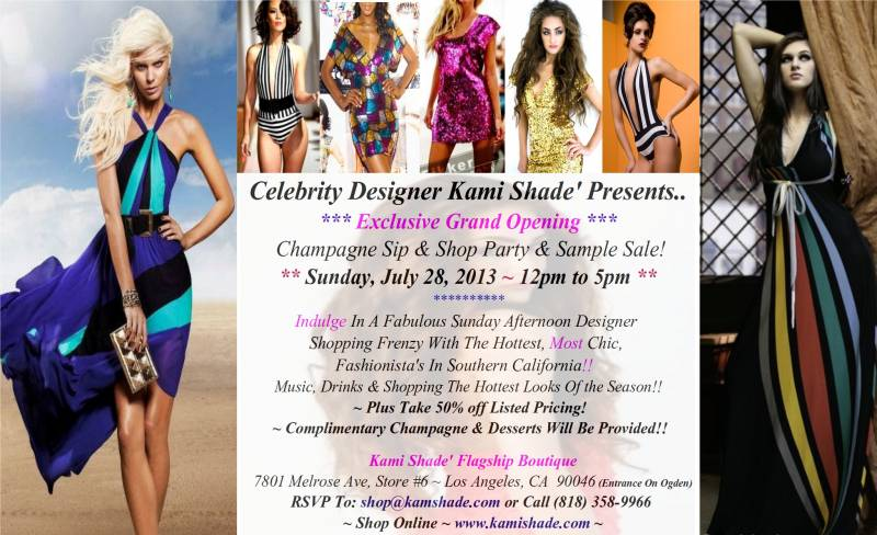 fashion, kami shade, celebrity, sample sale, designer