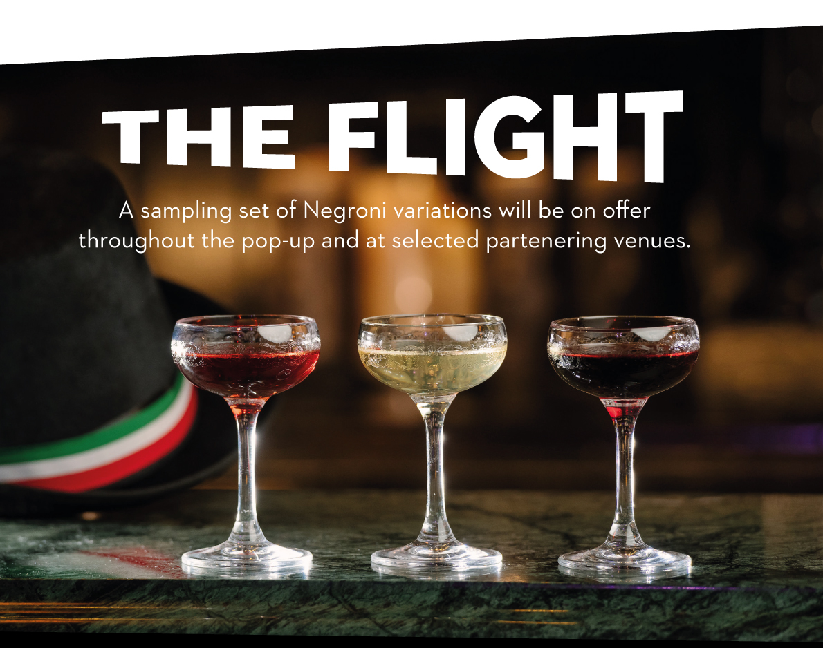 The Flight - A Negroni trio sample serve