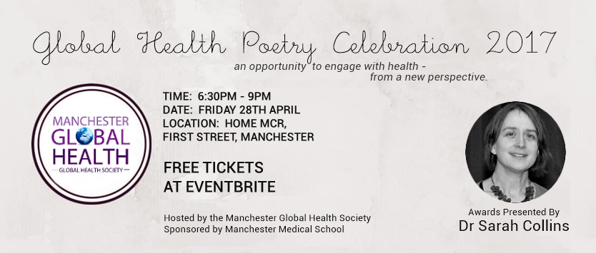 global health poetry celebration banner