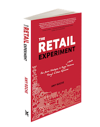 Author Amy Roche, The Retail Experiment book