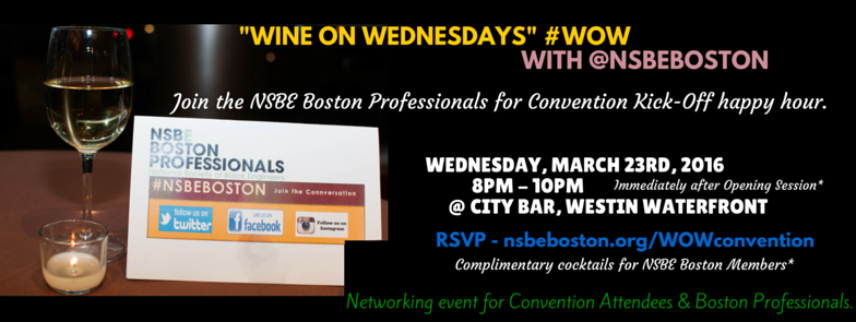NSBE Boston Cnvention Happy Hour