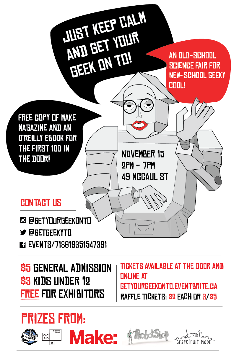 Flyer for Get Your Geek On TO