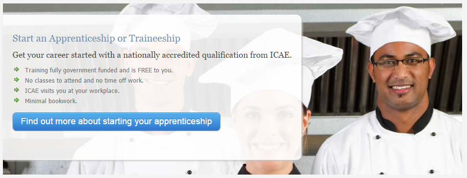 Get your career started with a nationally accredited qualification from ICAE.