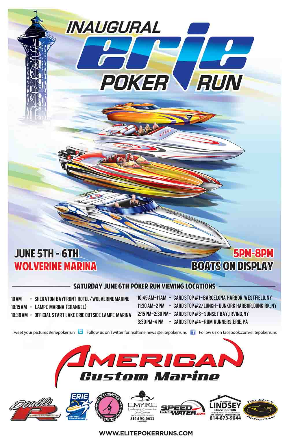 Erie poker run