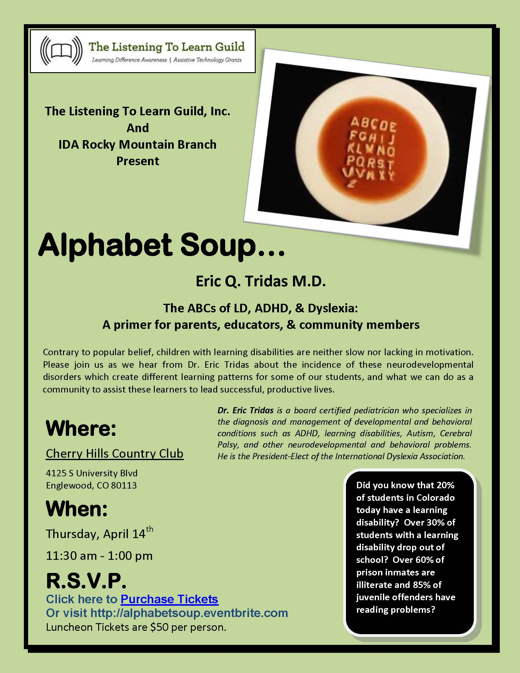 Flyer for luncheon