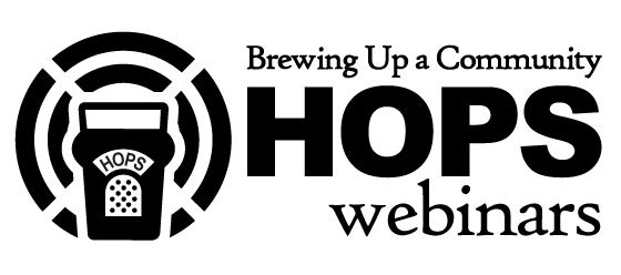logo for Brewing Up a Community Hops Webinars