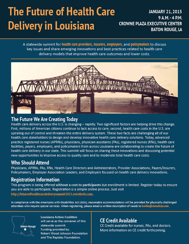 the future of healthcare delivery in The patient-centered medical home: the healthcare delivery model for the future august 22, 2011 printable pdf one result of the patient protection and affordable care act (ppaca) of 2010 has been a renewed conversation about the broken us healthcare system.