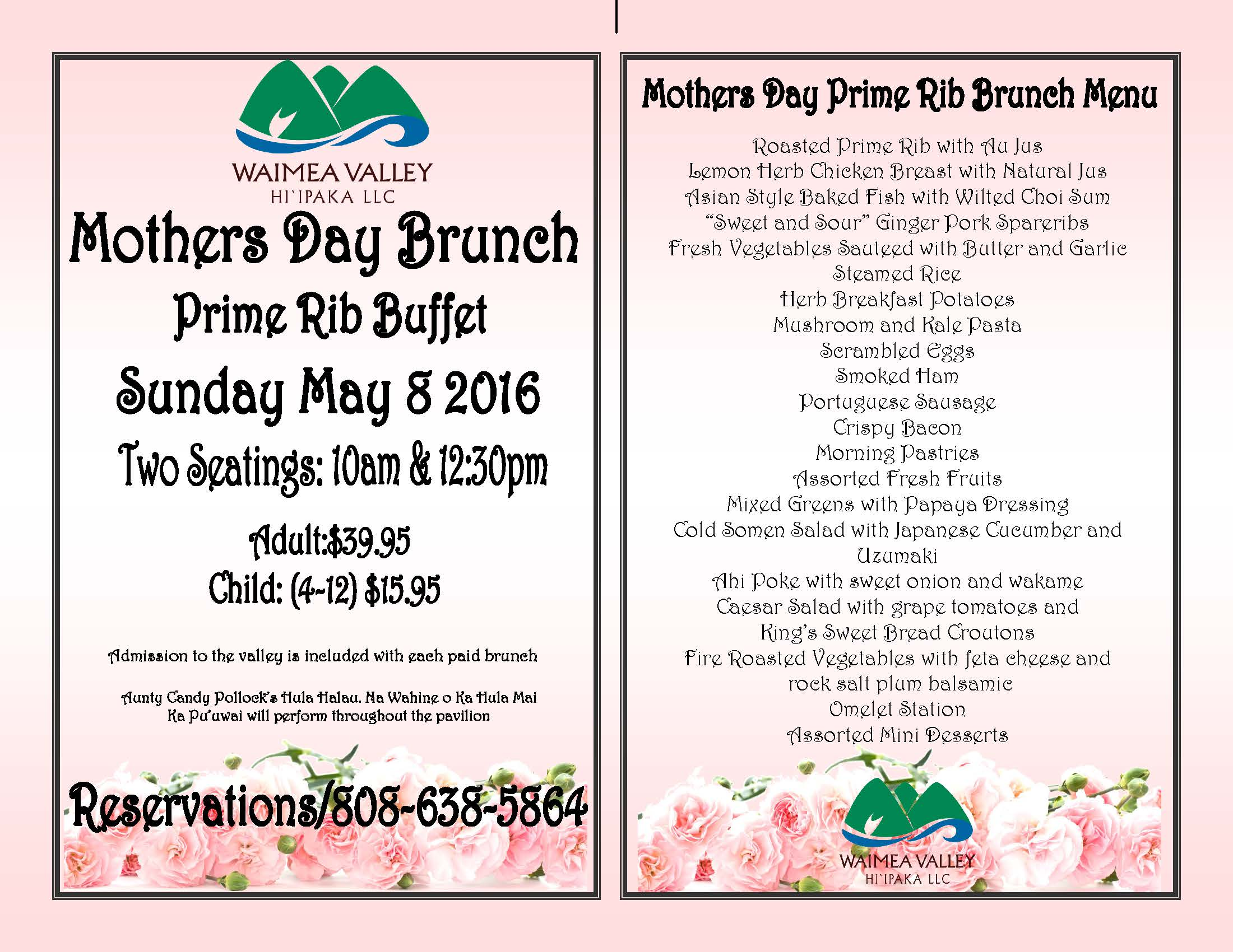 Motherʻs Day Brunch Prime Rib Buffet Tickets, Sun, May 8 ...