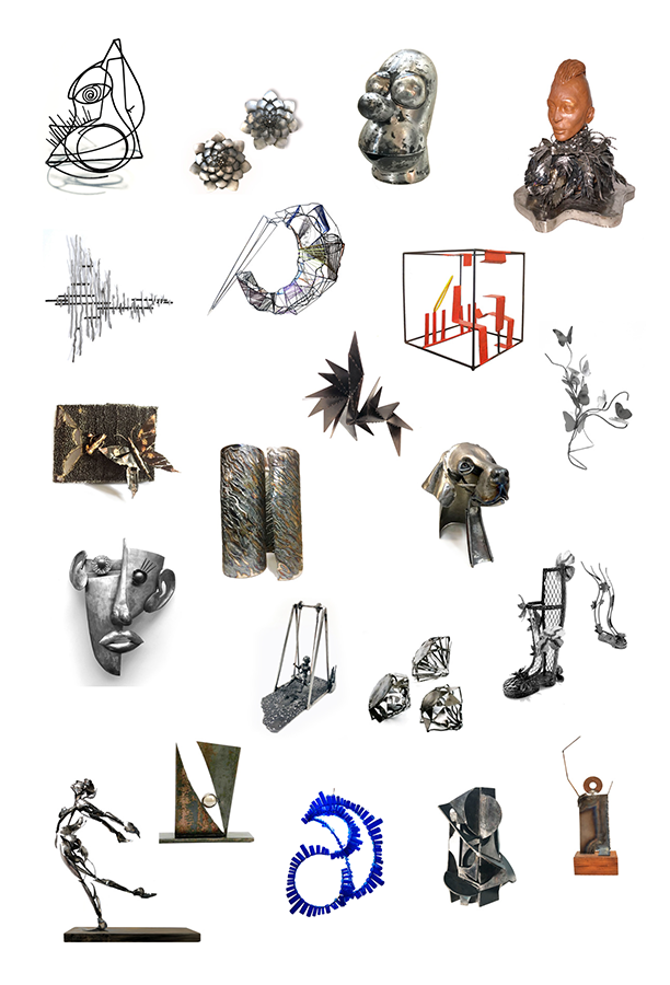 sample of work by the ASL Metal Sculpture artists