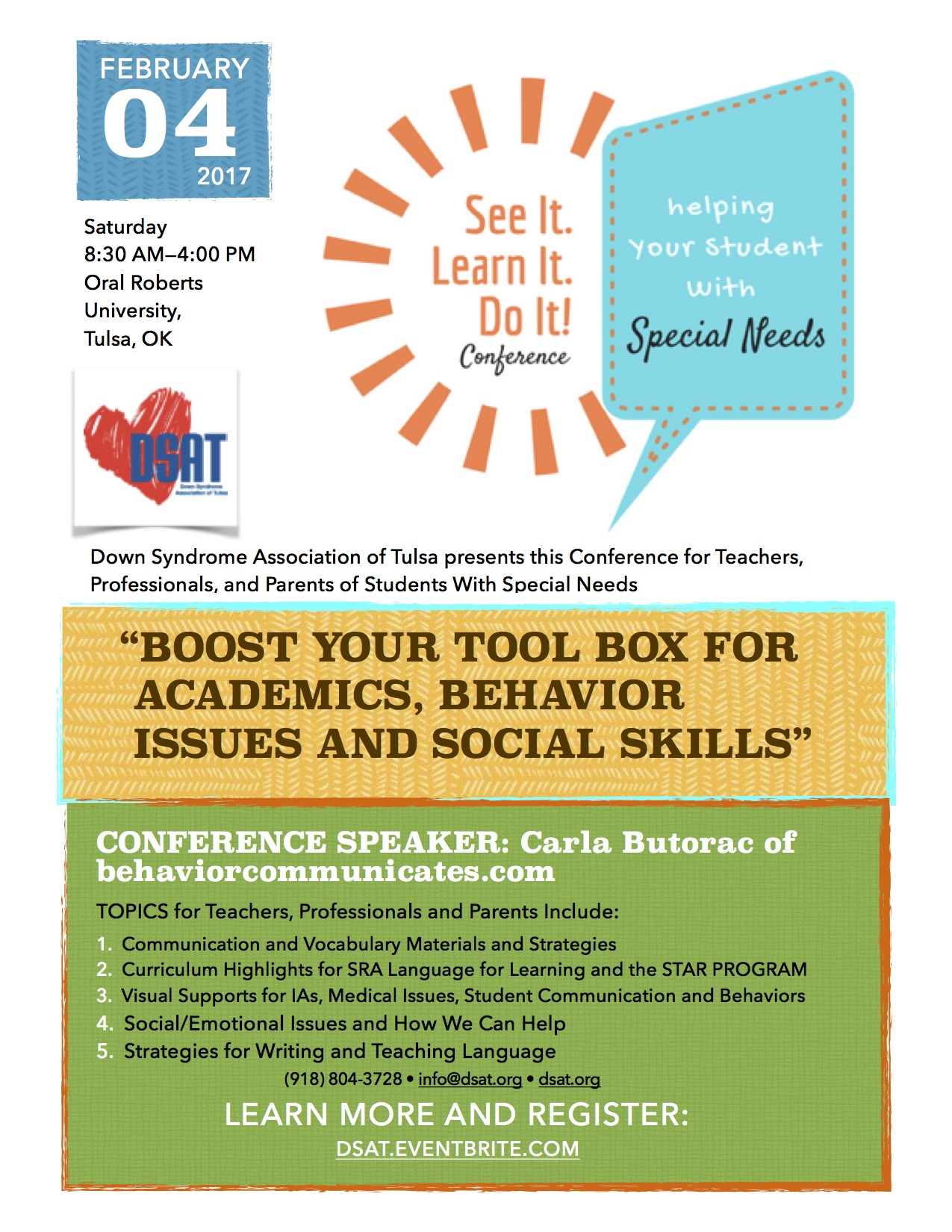 DSAT Special Needs Conference Feb. 4