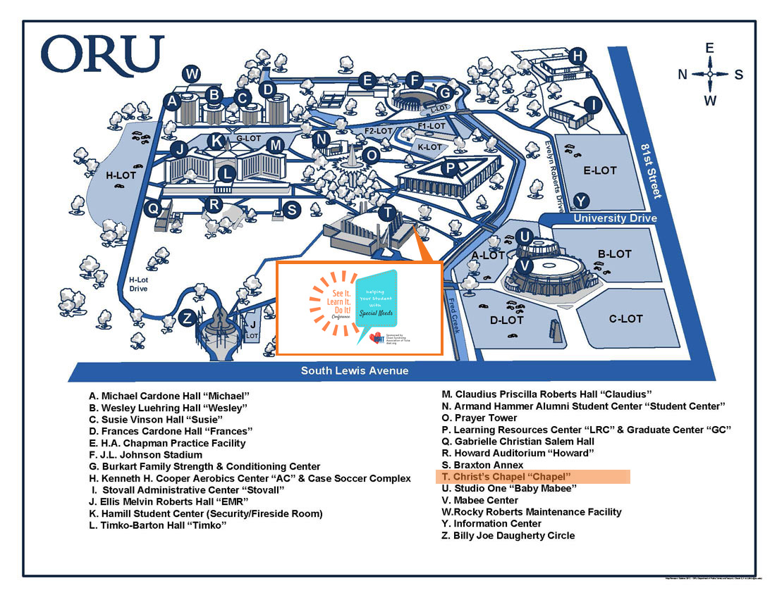 Conference Location on ORU Campus