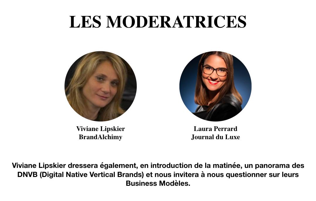 Les modératrices de la conférence sur les nouvelles pépites du luxe