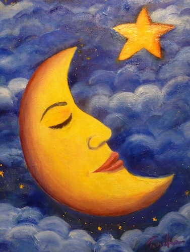 Moon and Star painting