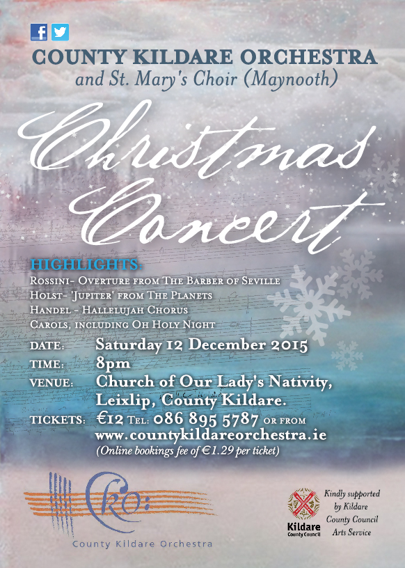 CKO County Kildare Orchestra Christmas 2015 Poster