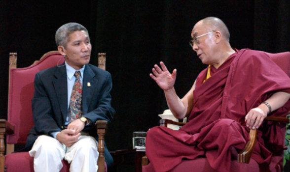 Jinpa and Dalai Lama