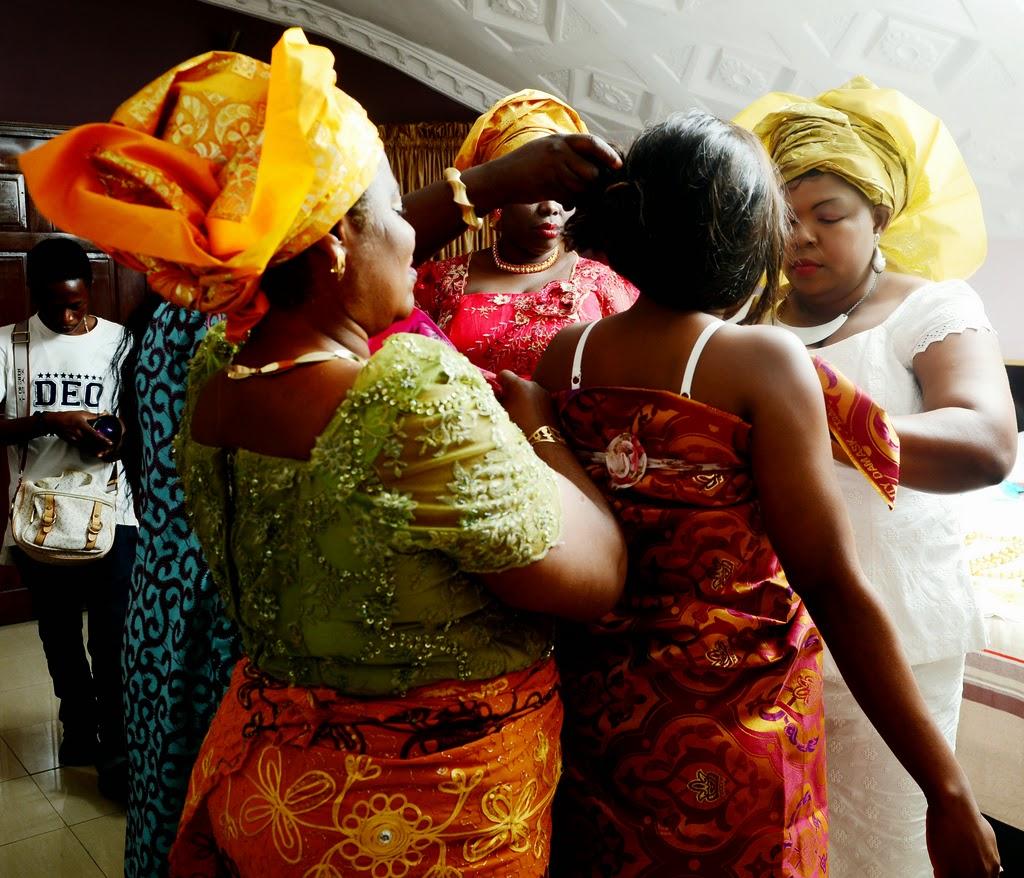 Nigerians getting ready