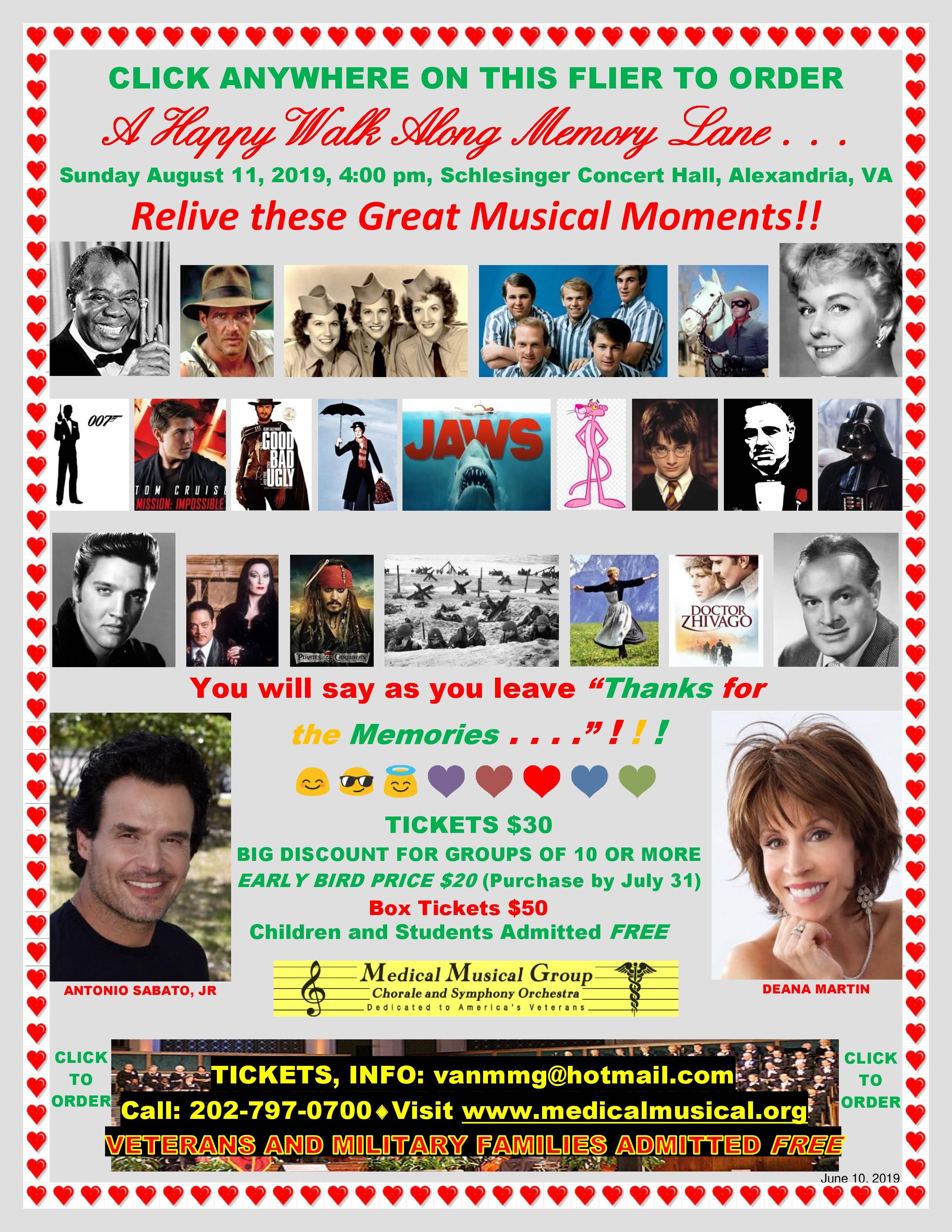 2019 Medical Musical Group Concert Flier