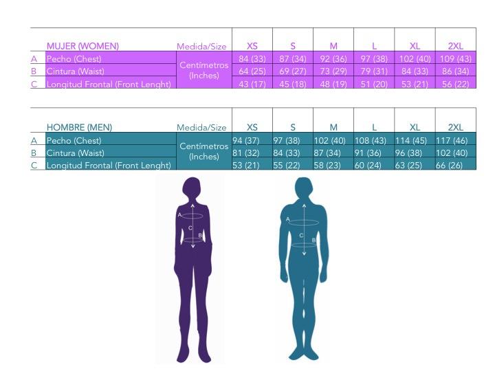 Tabla de Tallas/Size Chart