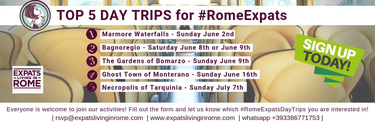 Top 5 day trips for #RomeExpats